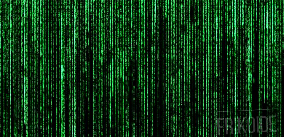 matrix letras verdes